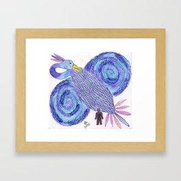Blue Phoenix Guardian Framed Art Print