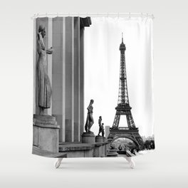 Trocadero Eiffel Tower Paris Shower Curtain