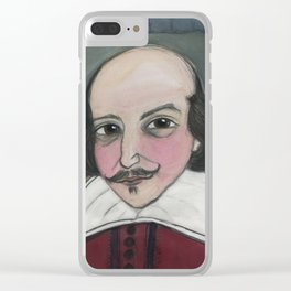 Much Ado About Shakespeare, Illustrated Writers Portrait Clear iPhone Case