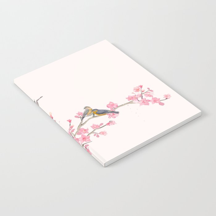 Birds and cherry blossoms Notebook