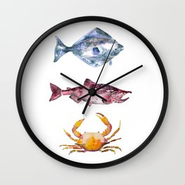 Alaska Marine Life Wall Clock