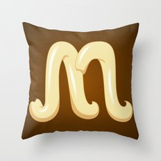 Alphabet M Throw Pillow