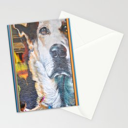 Few flowers as a tribute to the Loukanikos dog from Elisavet Stationery Cards