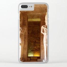 Abu Simbel Clear iPhone Case