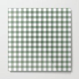 Plaid (sage green/white) Metal Print