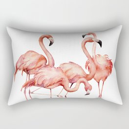Pink flamingo. Watercolor Rectangular Pillow