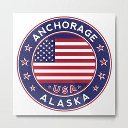 Anchorage, Alaska Metal Print
