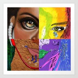 """""""Pon de Replay - FACES"""" by Steven Fiche, Cap Blackard, Kristin Frenzel, Jacob Liengood Art Print"""
