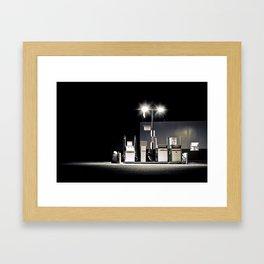 gas station Framed Art Print