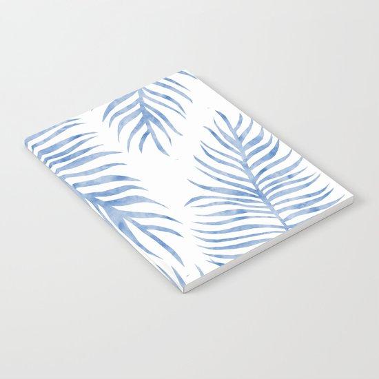 Fern Pattern Blue Notebook