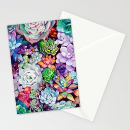 succulent salad Stationery Cards