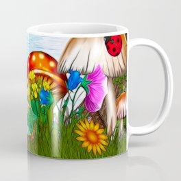 Spring Gardens Whimsical Folk Art Coffee Mug