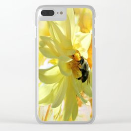 Busy Bumble Bee Clear iPhone Case