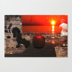 the apple that launched the thousand ships: the story of Troy Canvas Print