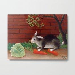 Henri Rousseau - The Rabbit's Meal Metal Print