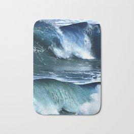 Deep Blue Waves Bath Mat
