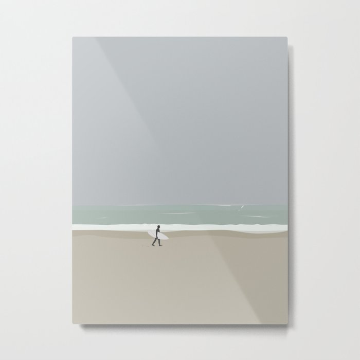 LÆRE AT SURFE Metal Print