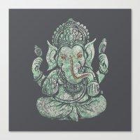 ganesha Canvas Prints featuring Ganesha by Thomcat23