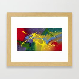 Uprising - Abstract painting Framed Art Print