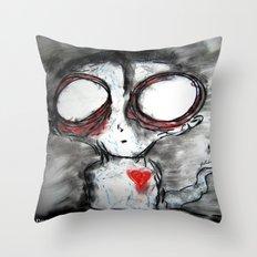 Bug Eyed Oddity Throw Pillow