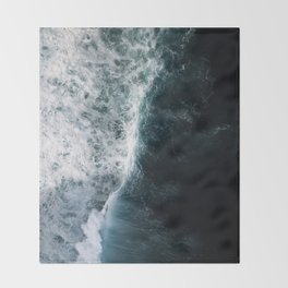 Oceanscape - White and Blue Throw Blanket