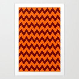 Hokie Chevron Art Print