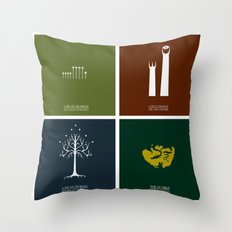 Lord of the Rings - Complete Minimalist Collection Throw Pillow