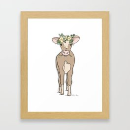 Baby Cow Framed Art Print