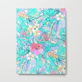 Pretty Pastel Hawaiian Hibiscus Print Metal Print