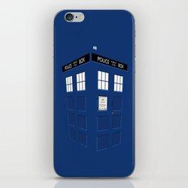 Tardis Blue iPhone Skin