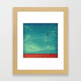 red carpet in the sky Framed Art Print