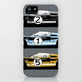 Three racing cars iPhone Case