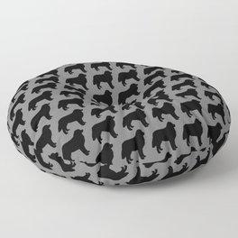 Bernese Mountain Dog Silhouette(s) Floor Pillow
