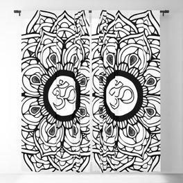 Om Hindu sacred sound symbol Mandala Blackout Curtain