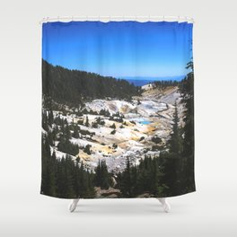 Bumpass Hell Pass Lassen Volcanic National Park Shower Curtain