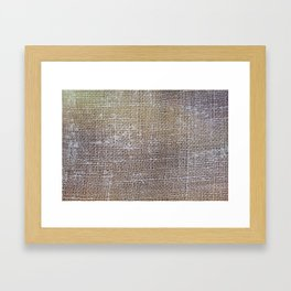 textured jute fabric for background and texture Framed Art Print