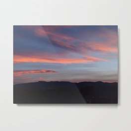 Cotton Candy Clouds Over Horsetooth Mountain Metal Print