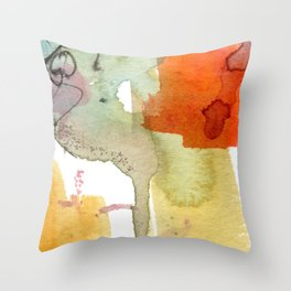 watercolour floral abstract Throw Pillow