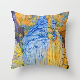 View of Luray Caverns Throw Pillow
