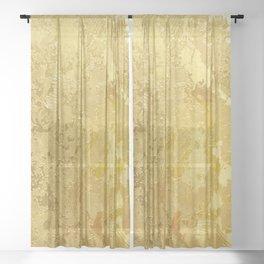 golden vintage Sheer Curtain