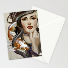 In a pond Stationery Cards