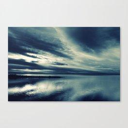 Skylight in Blue Canvas Print