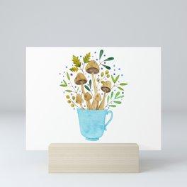 Relaxing Shrooms Mini Art Print