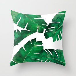 Banana leafs Throw Pillow