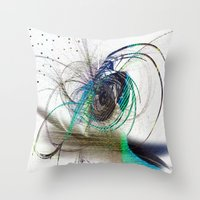 emerald Throw Pillows featuring Emerald by haroulita