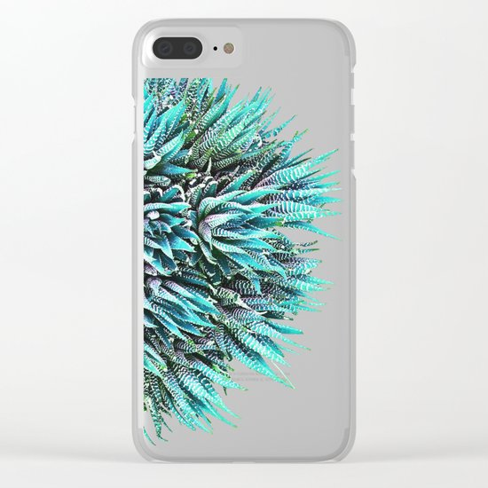 Cactus Crown 1. Blue & Green #decor #buyart Clear iPhone Case