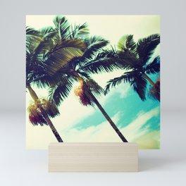 Vintage Hawaiian Palm Trees Mini Art Print
