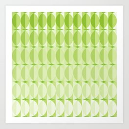 Leaves at springtime - a pattern in green Art Print