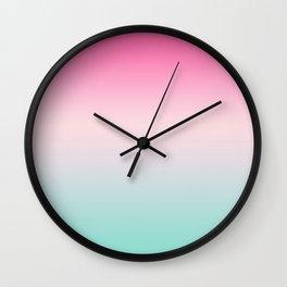 Ombre gradient digital illustration pastel colors Wall Clock
