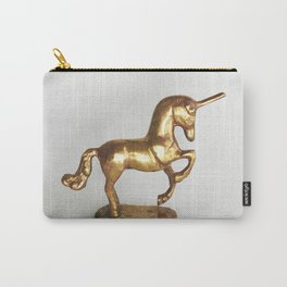 Gold Unicorn Carry-All Pouch